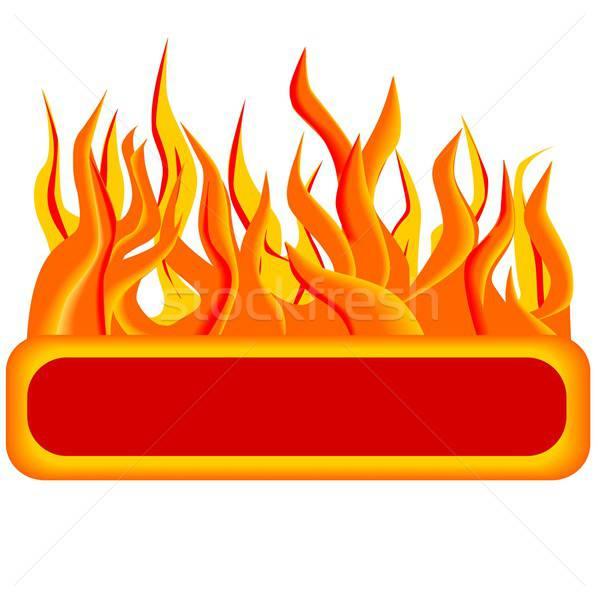 огня кнопки иллюстрация веб-дизайна интернет Сток-фото © BarbaRie