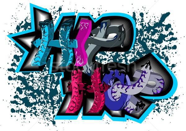 Graffitis signe hip hop illustration résumé ville Photo stock © BarbaRie