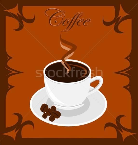 Kahve örnek kahve fincanı içmek Stok fotoğraf © BarbaRie