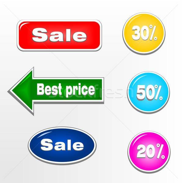 набор продажи билеты марок Этикетки иллюстрация Сток-фото © BarbaRie