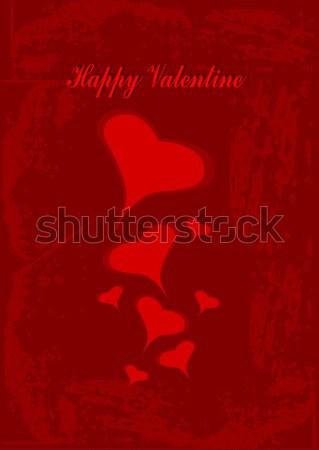 счастливым Валентин иллюстрация сердцах красный Сток-фото © BarbaRie