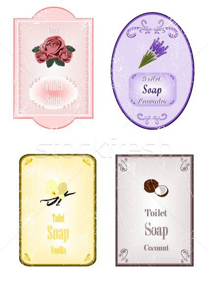Sabun örnek çiçek gül Eski kağıt Stok fotoğraf © BarbaRie