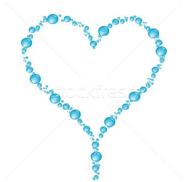 пузыря сердце иллюстрация белый Сток-фото © BarbaRie