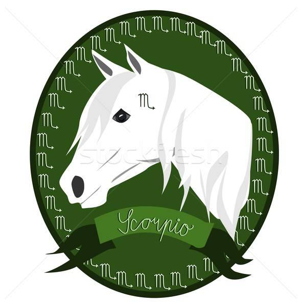 At zodyak örnek kafa işaretleri Stok fotoğraf © BarbaRie