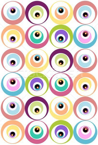 Model circles örnek pastel renkler doku Stok fotoğraf © BarbaRie