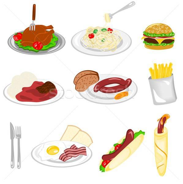 Ayarlamak gıda örnek farklı beyaz sağlık Stok fotoğraf © BarbaRie