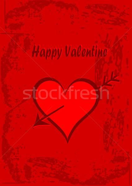 Mutlu valentine örnek kalpler kırmızı Stok fotoğraf © BarbaRie