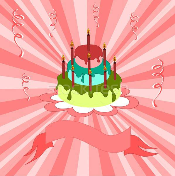С Днем Рождения открытки иллюстрация рождения фон кадр Сток-фото © BarbaRie