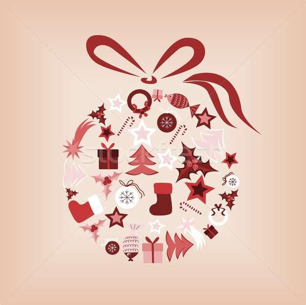 Рождества мяча иллюстрация Элементы Сток-фото © BarbaRie