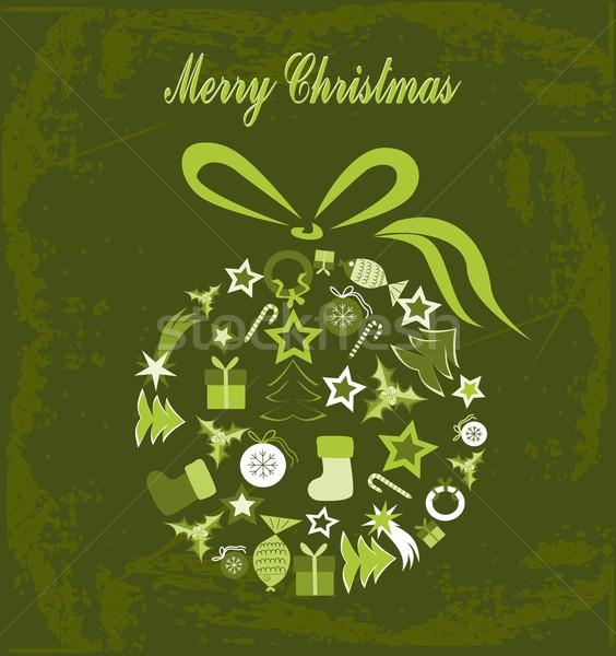 Joyeux Noël illustration balle Photo stock © BarbaRie