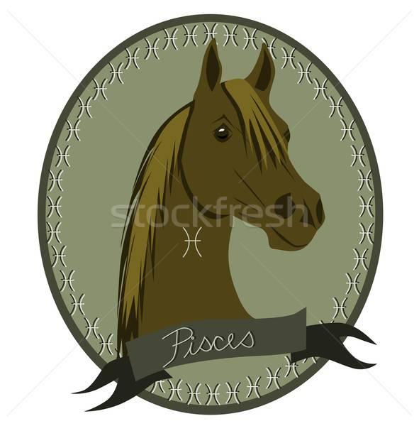 Horse zodiac - Pisces Stock photo © BarbaRie