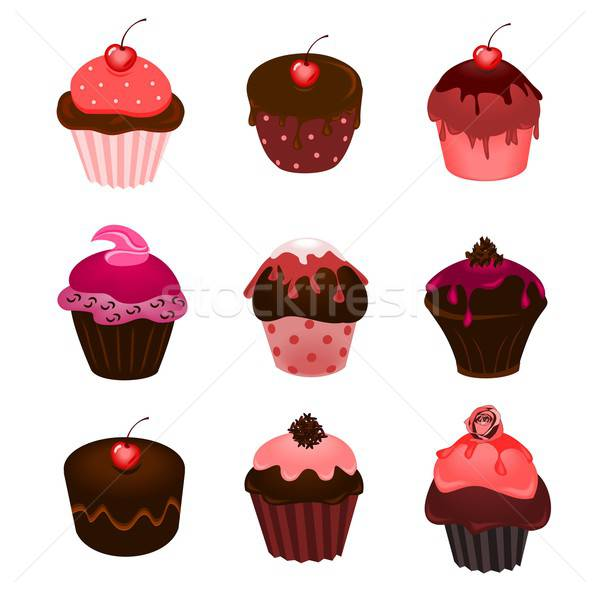 Cupcakes Stock photo © BarbaRie