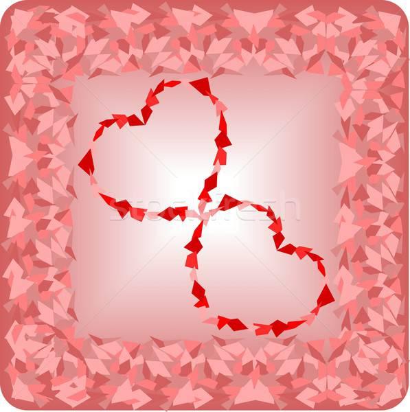 Mutlu valentine örnek elemanları kalp Stok fotoğraf © BarbaRie