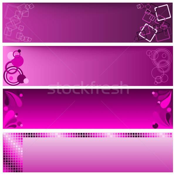 веб Баннеры иллюстрация различный интернет аннотация Сток-фото © BarbaRie