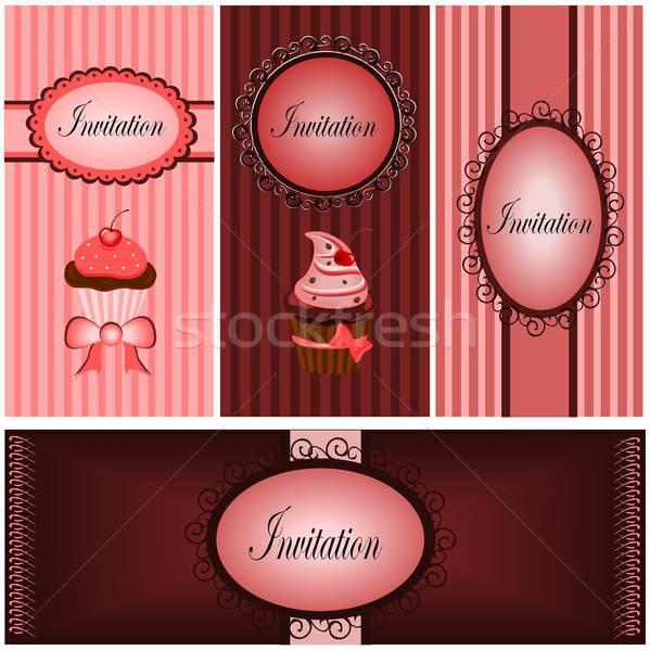 набор иллюстрация различный свадьба любви счастливым Сток-фото © BarbaRie