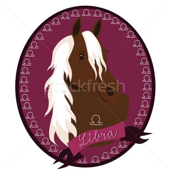 Horse zodiac - Libra Stock photo © BarbaRie