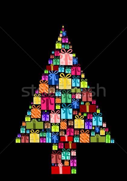 рождественская елка иллюстрация Рождества представляет зима Сток-фото © BarbaRie