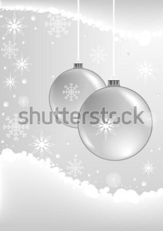 веселый Рождества иллюстрация любви Сток-фото © BarbaRie