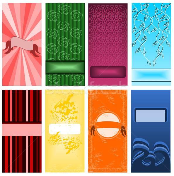 набор карт иллюстрация различный бумаги текстуры Сток-фото © BarbaRie