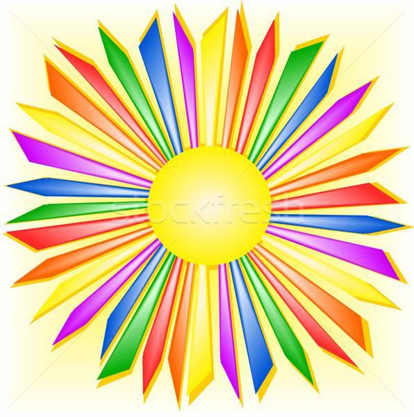 радуга солнце иллюстрация аннотация свет Сток-фото © BarbaRie