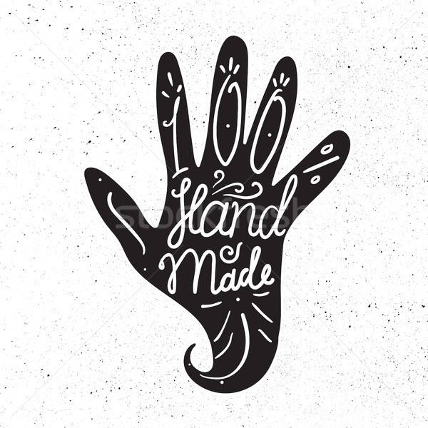Hand Made Badge Stock photo © barsrsind