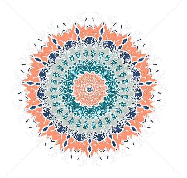 Mandala lijn sjabloon arabisch indian Stockfoto © barsrsind