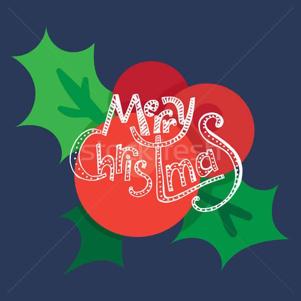Neşeli Noel happy new year meyve örnek Stok fotoğraf © barsrsind