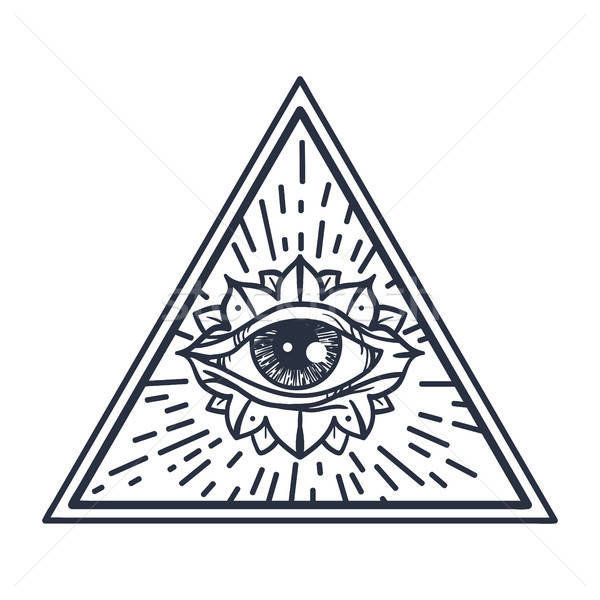 All Seeing Eye in Triangle Stock photo © barsrsind