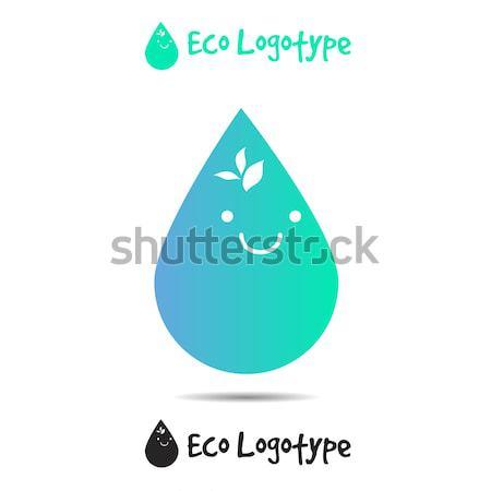 Vektor ökológia logo ikon természet logotípus Stock fotó © barsrsind