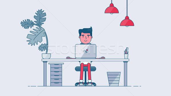 Creativa tecnología profesional de trabajo revelador Foto stock © barsrsind