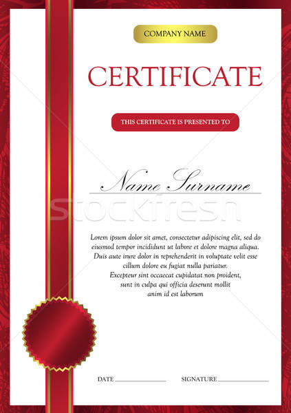 Certificate and diploma template Stock photo © barsrsind