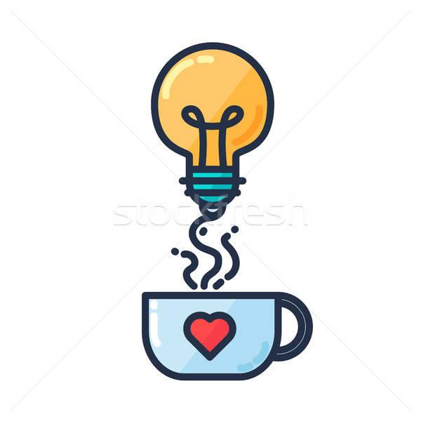 アイデア 電球 カップ 飲料 ストックフォト © barsrsind
