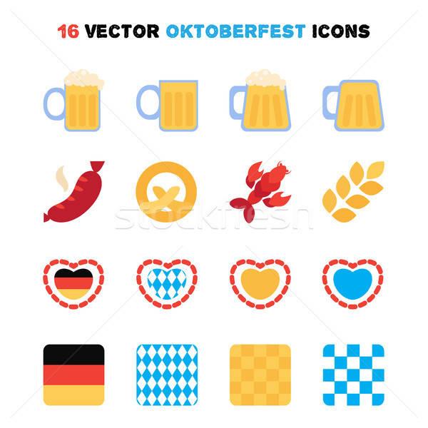 Oktoberfest 16 cerveza festival vector Foto stock © barsrsind