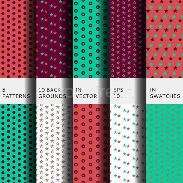 Set of 5 patterns Stock photo © barsrsind