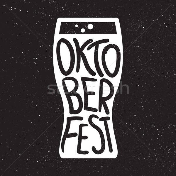 Oktoberfest insignă bere festival lucrat manual Imagine de stoc © barsrsind