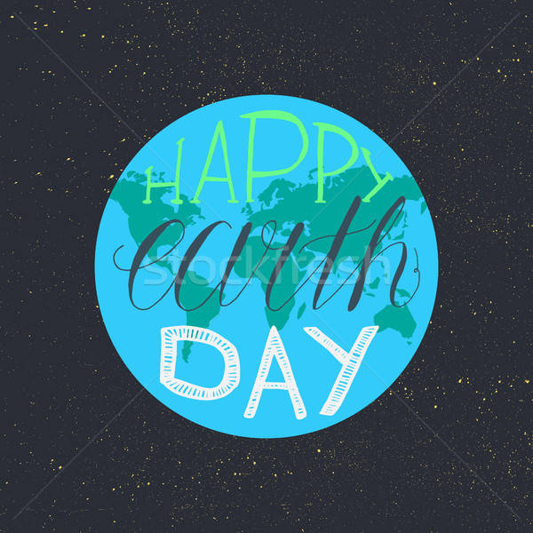 Happy Earth Day Lettering Stock photo © barsrsind