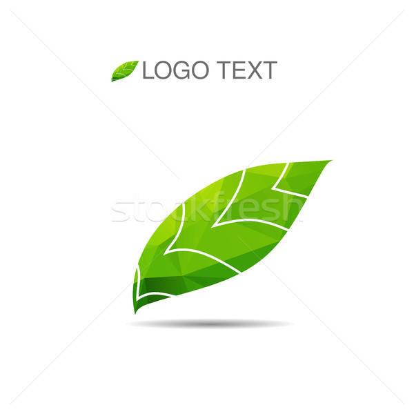 Ecology logo or icon in eps, nature logotype Stock photo © barsrsind