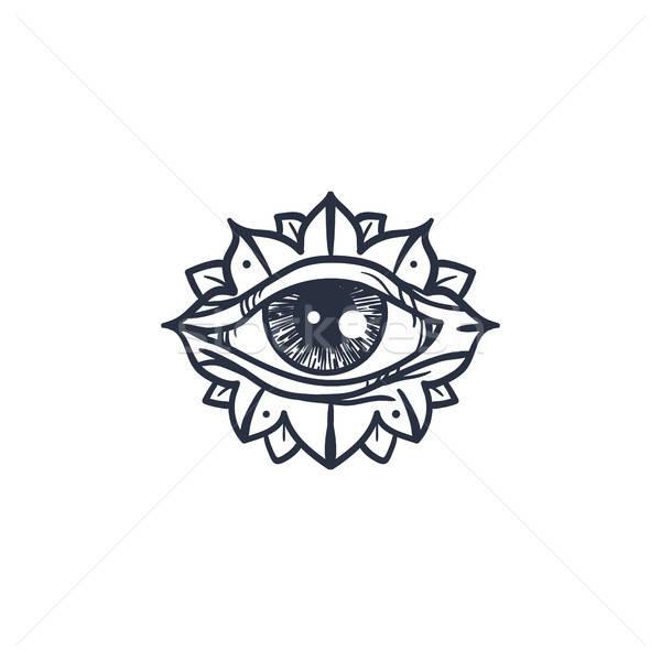 глаза мандала Vintage магия символ Сток-фото © barsrsind