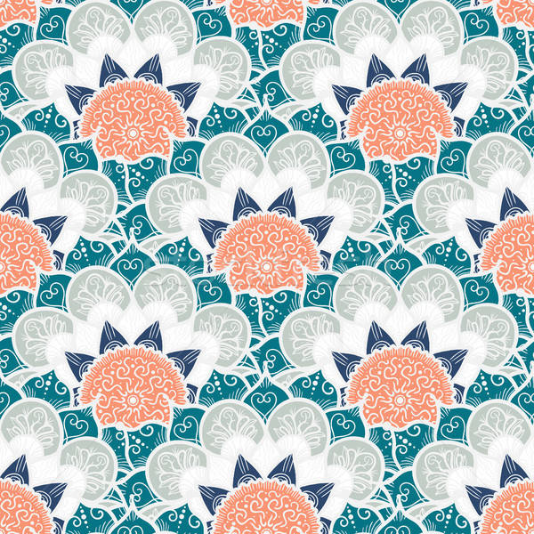 Stock photo: Mandala Seamless Pattern