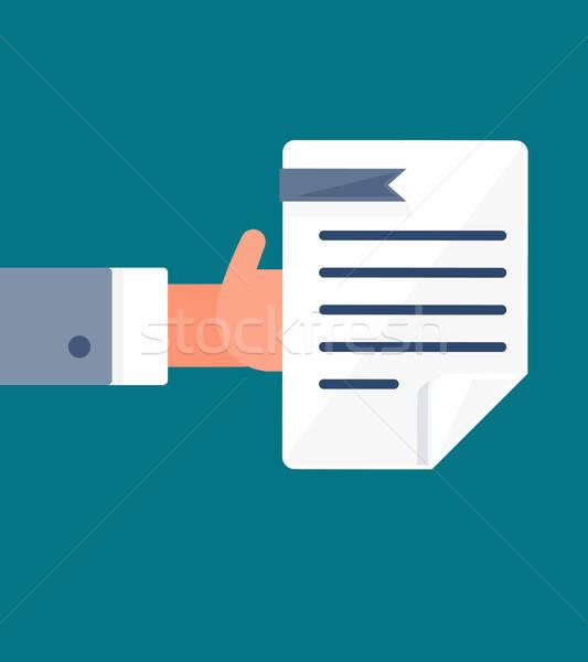 Fizetés irat szimbólum folyamat bérlés fizetés Stock fotó © barsrsind