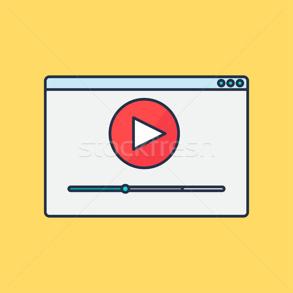 form of watching online video Stock photo © barsrsind