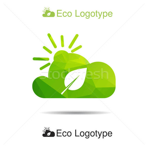Ecology logo or icon, nature logotype, air symbol  Stock photo © barsrsind