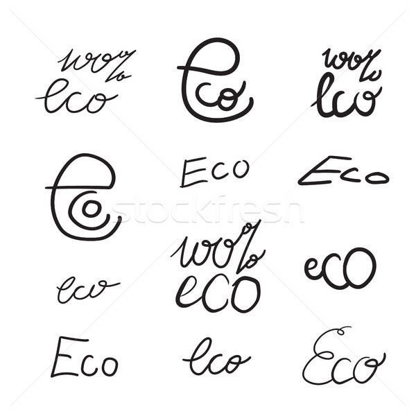 Eco Natural Lettering Stock photo © barsrsind