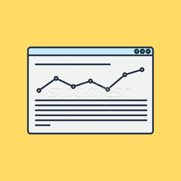 サイト ブログ インフォグラフィック ウェブ テンプレート 要素 ストックフォト © barsrsind