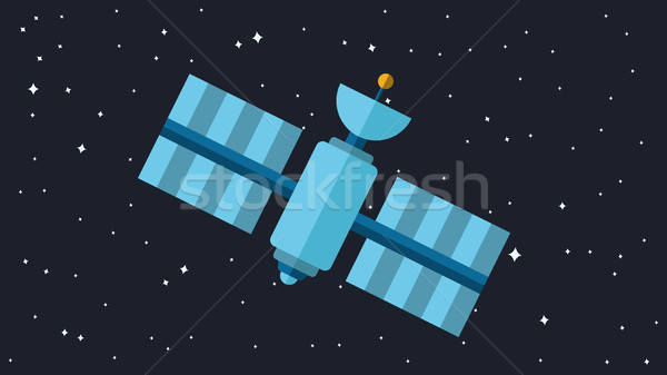 Moderne satelliet illustratie ruimte station vector Stockfoto © barsrsind