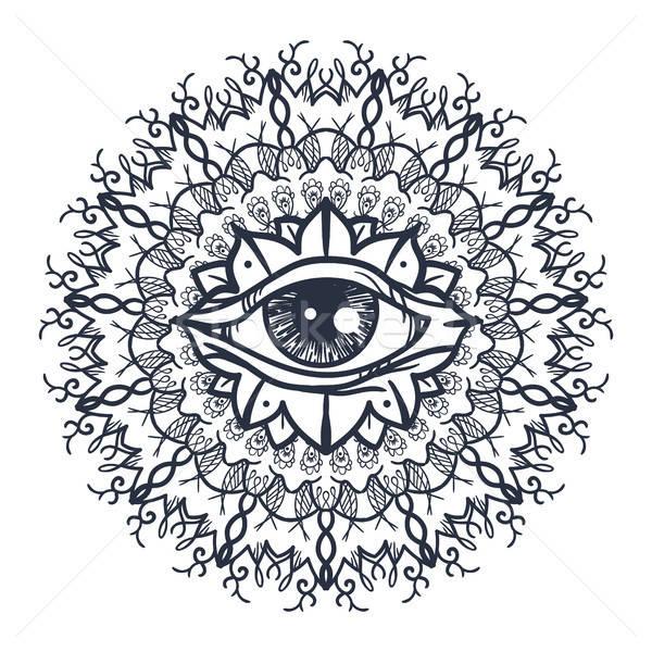 Foto d'archivio: Tutti · occhi · mandala · vintage · magia · simbolo