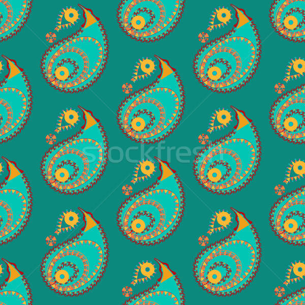 Seamless indian pattern Stock photo © barsrsind