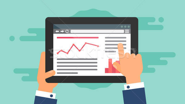 Web Template of Tablet Site or Article Form Stock photo © barsrsind