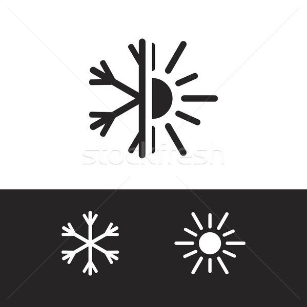 Air conditioning icon Stock photo © barsrsind
