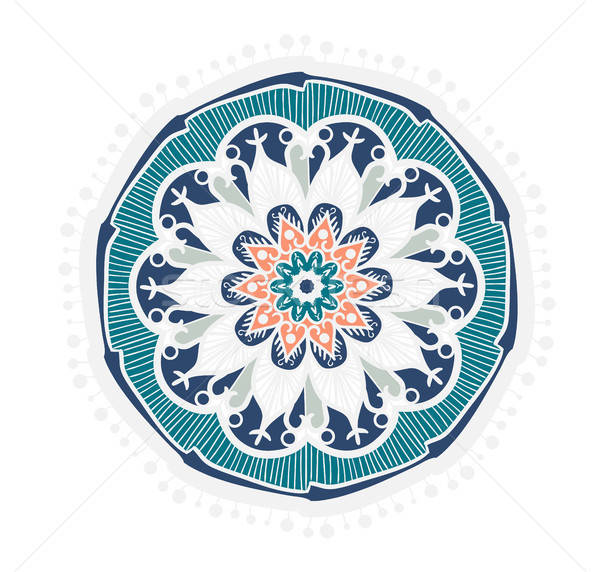 Mandala linha modelo árabe indiano Foto stock © barsrsind